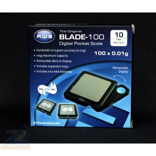 AWS | 0.01 GM | DIGITAL POCKET SCALE BLADE 100* | BLACK