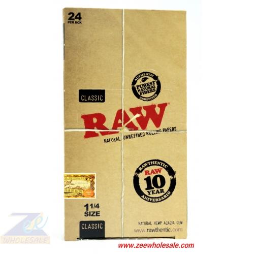 RAW SINGLE WIDE CLASSIC PAPER 25/BOX