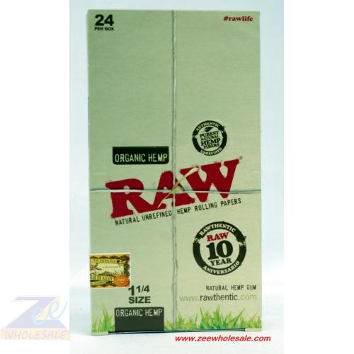 RAW ORGANIC 1 1/4 PAPERS 24/ BOX