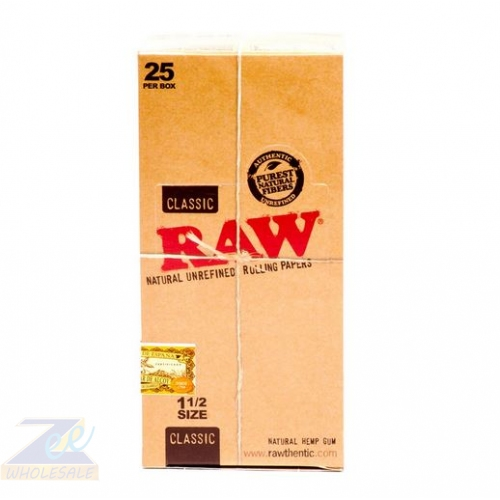 RAW CLASSIC 1 1/2 PAPER 25 PER BOX