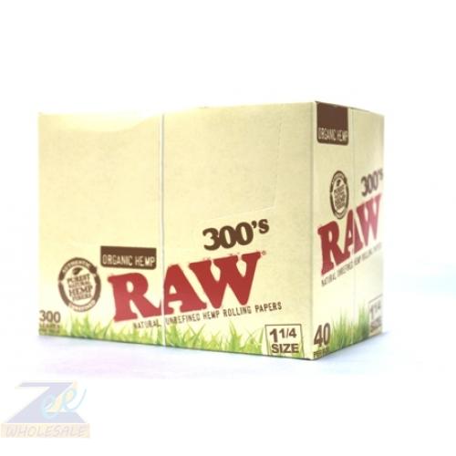 "RAW ORGANIC 300"" S 1 1/4 ROLLING PAPER"